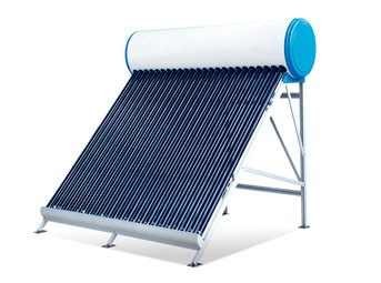 Non-pressurized solar water heater with vacuum tubes